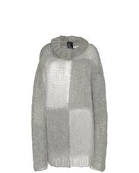 Jersey oversized de mohair gris de Ann Demeulemeester