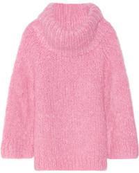 Jersey oversized de mohair rosado de Michael Kors