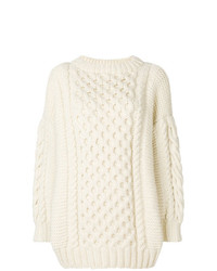 Jersey oversized de punto blanco de I Love Mr Mittens