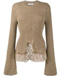 Jersey oversized de punto marrón claro de Givenchy