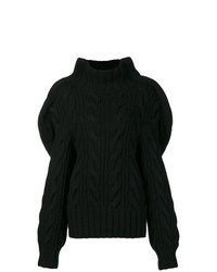 Jersey oversized de punto negro de Aalto