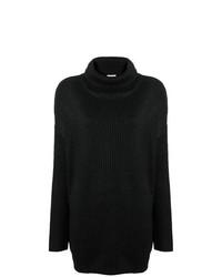 Jersey oversized de punto negro de Twin-Set