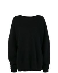 Jersey oversized de punto negro de Unravel Project