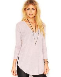 Jersey oversized de punto violeta claro