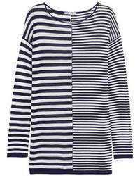Jersey oversized de rayas horizontales en blanco y azul marino de Alexander Wang