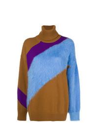 Jersey oversized de rayas horizontales en multicolor