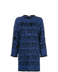 Jersey oversized estampado azul marino de Fendi