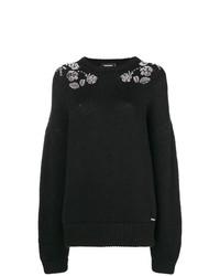 Jersey oversized estampado negro de Dsquared2
