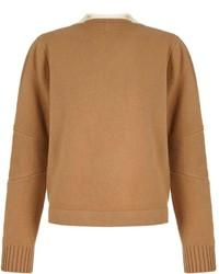 Jersey oversized marrón claro