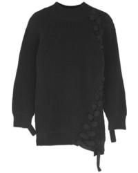 Jersey oversized negro de Victoria Beckham