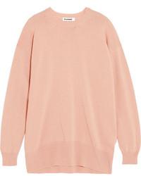 Jersey oversized rosado de Jil Sander