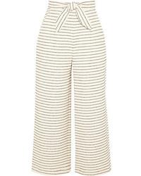 Jupe-culotte à rayures horizontales beige Mara Hoffman