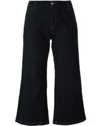 Jupe-culotte en denim bleue marine P.A.R.O.S.H.