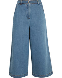 Jupe-culotte en denim bleue Fendi