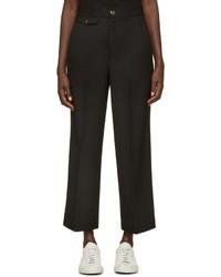 Jupe-culotte en laine noire Helmut Lang