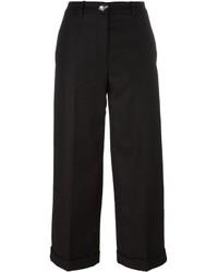 Jupe-culotte en laine noire Love Moschino