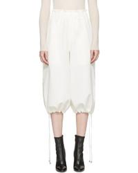 Jupe-culotte en soie blanche Helmut Lang