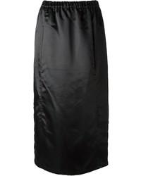 Jupe mi-longue noire Comme des Garcons