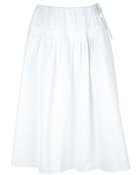 Jupe mi-longue plissée blanche Chloé