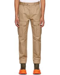 Alexander McQueen Beige Baggy Military Cargo Pants