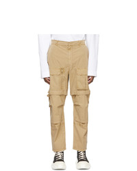 Juun.J Beige Detachable Knee Cargo Pants