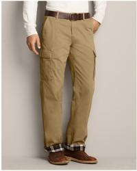 Eddie Bauer Classic Fit Flannel Lined Legend Wash Cargo Pants