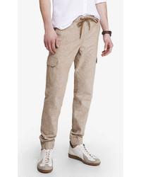 Express Linen Cotton Cargo Jogger Pant
