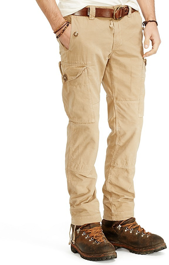 ... Khaki Cargo Pants Ralph Lauren Polo Montauk Ripstop Cargo Pants  Straight Fit ...