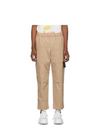 Kenzo Tan Canvas Cropped Cargo Pants
