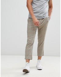 ONLY & SONS Cropped Check Trousers Check