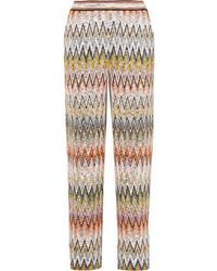 Missoni Crochet Knit Straight Leg Pants