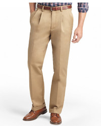 Izod American Classic Fit Wrinkle Free Pleated Chino Pants