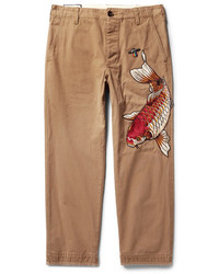 Gucci Appliqud Cotton Twill Chinos