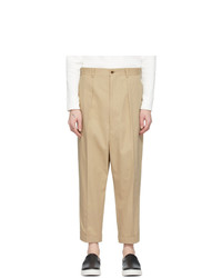 Comme des Garcons Homme Beige Cotton Chino Trousers