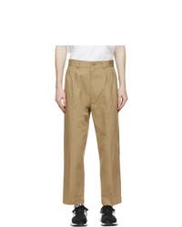 Comme des Garcons Homme Beige Cotton Drill Trousers