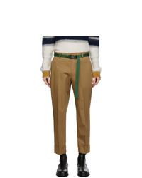 Solid Homme Beige Cotton Pants