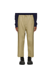 Jil Sanderand Beige Cropped Wide Leg Casual Trousers