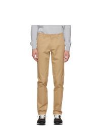 Lacoste Beige Gabardine Slim Fit Chino Trousers