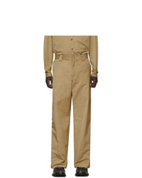 Valentino Beige Straight Fit Trousers