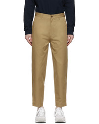 Comme des Garcons Homme Beige Tapered Chino Trousers