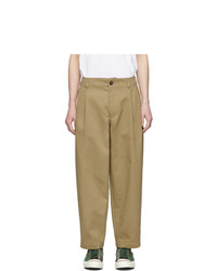 Comme Des Garcons SHIRT Beige Workstitch Trousers