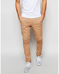 Asos Brand Super Skinny Chinos In Soft Tan