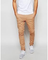 Asos Brand Super Skinny Chinos In Soft Tan