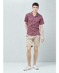 Mango Outlet Chino Bermuda Shorts