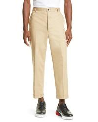 Thom Browne Crop Straight Leg Chino Pants