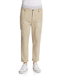 DSQUARED2 Distressed Layered Chino Pants