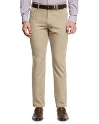 Ermenegildo Zegna Five Pocket Chino Pants Medium Beige