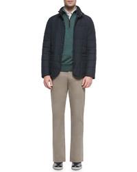 Ermenegildo Zegna Five Pocket Stretch Cotton Pants Khaki