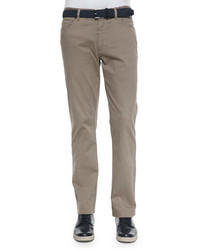 Ermenegildo Zegna Five Pocket Stretch Cotton Pants Khaki