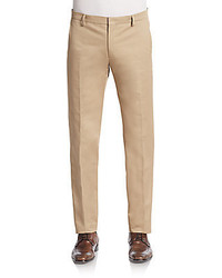 Ami Flat Front Cotton Chinos